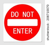 do not enter sign vector... | Shutterstock .eps vector #208710070