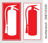 fire extinguisher signs vector... | Shutterstock .eps vector #208710100