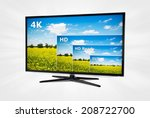 4k television display with... | Shutterstock . vector #208722700