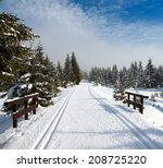 Wintry Landscape Scenery With...