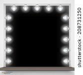 vector illustration of mirror...   Shutterstock .eps vector #208731250