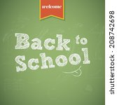 back to school background.... | Shutterstock .eps vector #208742698