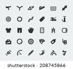 spare parts for bicycle vector... | Shutterstock .eps vector #208745866