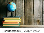 the globe and multi coloured... | Shutterstock . vector #208746910