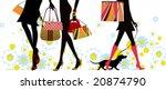summer  shopping girls  vector...   Shutterstock .eps vector #20874790