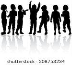 girls silhouettes | Shutterstock .eps vector #208753234