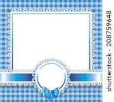 Baby Boy Card Blue Background