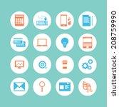 business icon set | Shutterstock .eps vector #208759990