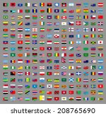 illustrated drawing of flags of ... | Shutterstock . vector #208765690