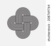 Twisted Lines  Vector Element ...