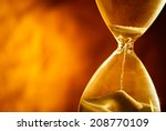 sand passing through the glass... | Shutterstock . vector #208770109