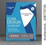 blue flyer   business cover | Shutterstock .eps vector #208770730