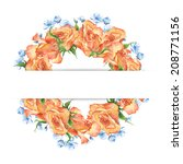 watercolor colorful handmade... | Shutterstock . vector #208771156