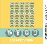 100 app design black flat...
