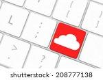 cloud computing concept on... | Shutterstock . vector #208777138