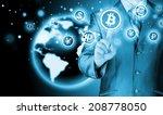 choosing bitcoins  businessman...   Shutterstock . vector #208778050