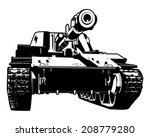 vector black and white... | Shutterstock .eps vector #208779280