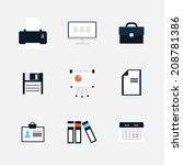modern  icons vector collection ... | Shutterstock .eps vector #208781386