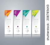 abstract 3d digital... | Shutterstock .eps vector #208785643