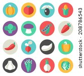 vegetables icons | Shutterstock .eps vector #208786543