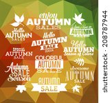 Autumn Typographic Designs  ...