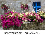 Old Stone House Decorated With...