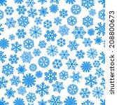 christmas seamless pattern of... | Shutterstock . vector #208800673