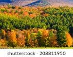 fall foliage mountain range ... | Shutterstock . vector #208811950