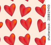 red glossy shiny three... | Shutterstock .eps vector #208819450