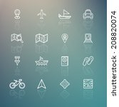 travel icons on retina... | Shutterstock .eps vector #208820074