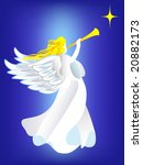 angel proclaiming about the... | Shutterstock .eps vector #20882173