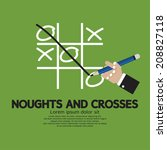 noughts and crosses vector... | Shutterstock .eps vector #208827118