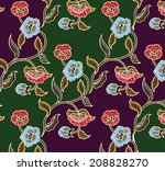 design for fabric.flower...