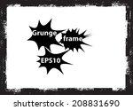 grunge frame. vector...   Shutterstock .eps vector #208831690