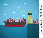 vector concept of river ocean... | Shutterstock .eps vector #208838560