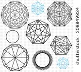 geometric polygon designs with... | Shutterstock .eps vector #208849834