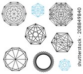 geometric polygon designs with... | Shutterstock . vector #208849840