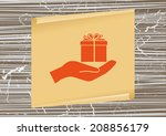 icon design style on a... | Shutterstock .eps vector #208856179