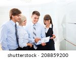 business people group working... | Shutterstock . vector #208859200