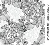 elegant seamless pattern with... | Shutterstock .eps vector #208860670