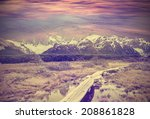 vintage picture of andes  fitz... | Shutterstock . vector #208861828
