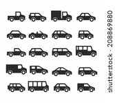car icons | Shutterstock .eps vector #208869880