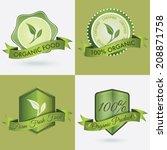 4 in 1 logo badge or seal of... | Shutterstock .eps vector #208871758