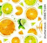 Постер, плакат: Vector Fruit seamless pattern