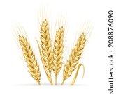 wheat ears. design element.  | Shutterstock . vector #208876090
