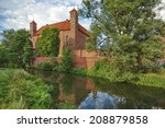 medieval gothic castle in... | Shutterstock . vector #208879858