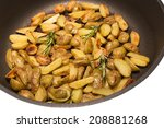 rosemary potatoes in a frying...