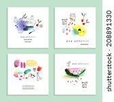 watercolor art. fruits  berries.... | Shutterstock .eps vector #208891330