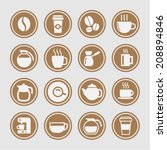 coffee icon set | Shutterstock .eps vector #208894846
