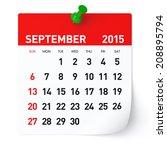 september 2015   calendar   Shutterstock . vector #208895794